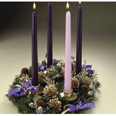 Advent Pine Cone Wreath