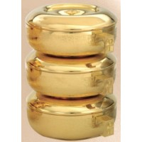 Ciboria, 3 piece Stacking textured high polished set