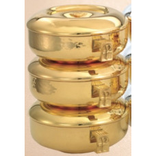 Ciboria, Gold with Hammered bowl 3 piece Stacking set