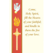 Bulletin Cover, Fold in Half, Confirmation Side Border
