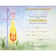 Certificate, Confirmation, Watercolor