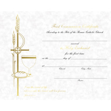 Certificate, First Communion