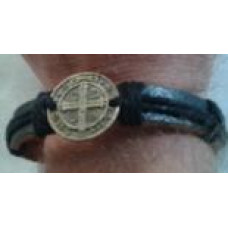 Benedictine Cross Leather Bracelet, only 89¢ each!