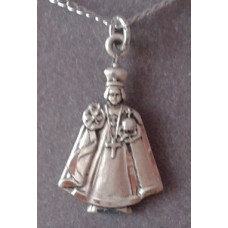 Necklace, Sterling Silver Infant of Prague