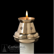 "Candle Follower Brass  7/8"" Bove"