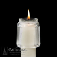 "Candle Follower Glass 1 3/8"" - 1 1/2 """