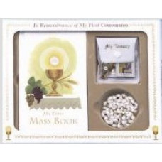 Communion Missal and Rosary Set, Eucharist Classic Boxed Set, White