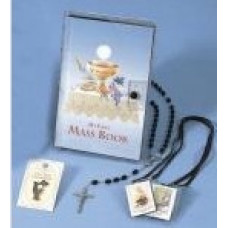 First Communion Missal and Rosary Set,Eucharist Vinyl Wallet Set