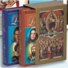 Book, Gold Gift Boxed Set: Illustrated Lives of the Saints, Volumes I & II