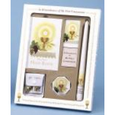 Communion Missal and Rosary Set, White Eucharist Deluxe Boxed Set
