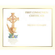 Certificate, First Communion, Make your Own Certificate