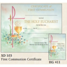 Certificate, First Communion, Watercolor