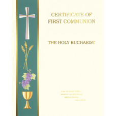 Certificate, First Communion,Left Boarder, Make your Own Certificate