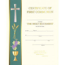 Certificate, First Communion, Left Border