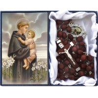 Rosary, Saint Anthony and Prayer Card