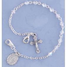 Bracelet, Crystal Rosary Bracelet