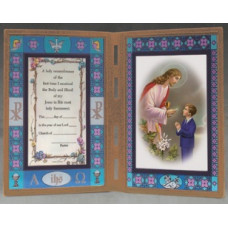 Frame,  Communion Boy or Girl stain glass Bifold