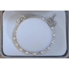 Bracelet, Pearl Rosary Bracelet