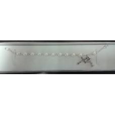 Bracelet, First Communion Pearl Rosary Bracelet