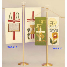 Church Banner Stand 76BA20, for one or two banners