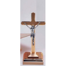 Crucifix, Standing Crucifix, Layered Square Base 11AC20