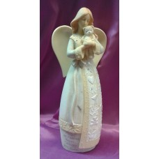 Statue,  Angel with Teddy Bear