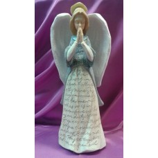 Statue, Angel with Our Father Prayer