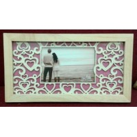 Frame, Wood Cutout Hearts