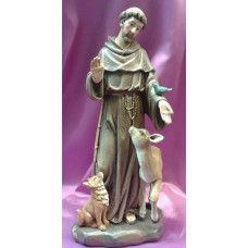 Statue, St. Francis with Animals