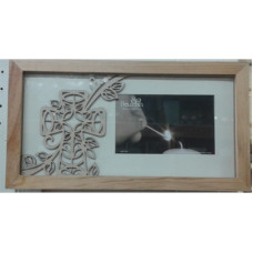 Frame, Wood Cutout Cross