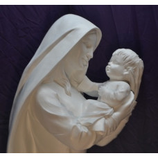 Statue, Mary with Infant, Life Size, Outdoor or Indoor