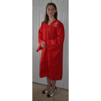 Confirmation Gown with Embroidered Dove, In Red or White