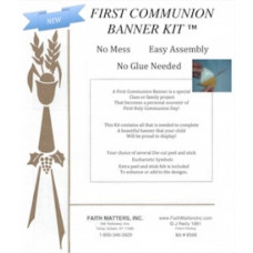 First Communion Banner Kit - VOLUME DISCOUNT on 12 - 49 kits