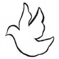 Idea Download, Dove Pattern for First Communion Banner Kit