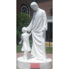 Statue, Jesus with Child, Life Size, Outdoor or Indoor