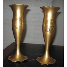 Vases, IHS & Crown of Thorns Engraved