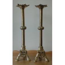 Candlestick, Detailed, Cross on Base