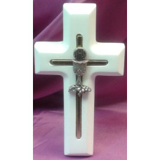 Cross, White Wood First Holy Communion Cross