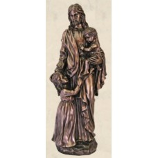 Statue, Christ with Children, Bronze