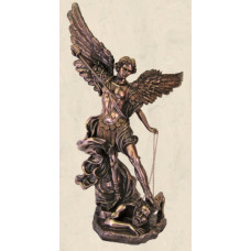 "Statue, St Michael, 3' 9"" Tall, Bronze"