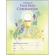 Certificate, First Holy Communion