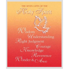 Bulletin Cover, Confirmation, Dove & 7 Gifts