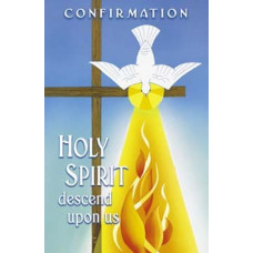 Bulletin Cover, Confirmation, Dove & Flame