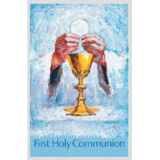 Bulletin Cover, First Holy Communion, Chalice & Host