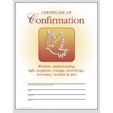 Certificate, Confirmation, Dove & 7 Gifts