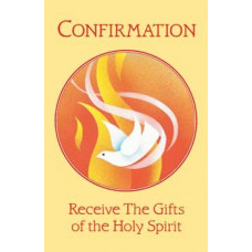 Bulletin Cover, Confirmation, Dove & Flame in Circle