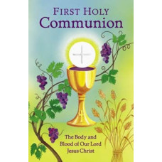 Bulletin Cover, Fold in Half, First Holy Communion, Chalice & Host