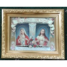Picture, Bless our Home, Sacred Hearts