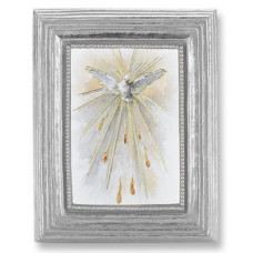 Frame, Holy Spirit gold stamped print