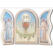Plaque, Eucharist & Angel Triptych